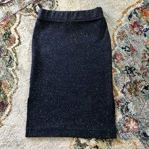 Madewell column side-slit skirt in speckle
